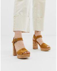 d30d5620aa4 Brooke Cork Platform Heeled Sandals - Natural