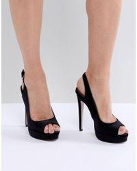 Miss Kg Esther Platform Heeled Sandals - Black