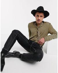 ASOS Co-ord Regular Satin Shirt - Metallic