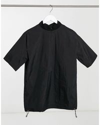Sixth June T-shirt col montant en nylon - Noir
