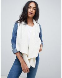 Abercrombie & Fitch - Denim Jacket With Built In Scarf - Lyst