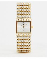 ASOS - Watch In Vintage Style Design With Jewel And Pearl Strap - Lyst