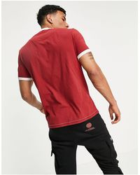 Pretty Green Timor T-shirt With Print - Red