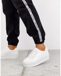 ASOS Dramatic Chunky Lace Up Trainers - White