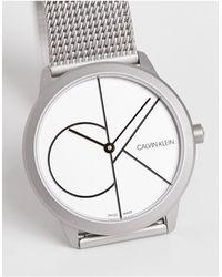 Calvin Klein Reloj con logo - Metálico