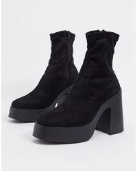 ASOS Botas estilo calcetín - Negro