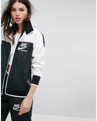Nike Зеленая Спортивная Куртка На Молнии Archive-зеленый