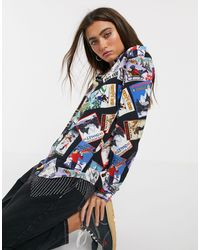 Love Moschino Рубашка С Принтом -мульти - Синий