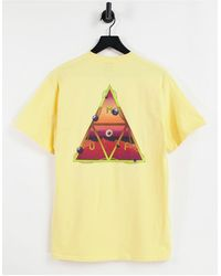 Huf Altered State Back Print T-shirt - Yellow