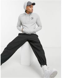 Tom Tailor Hoodie With Chest Print - Grey