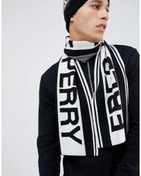 Fred Perry - Logo Scarf In Black - Lyst