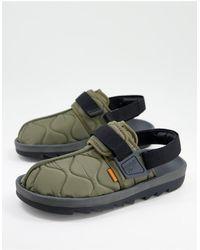 Reebok Beatnik Quilted Sandals - Green