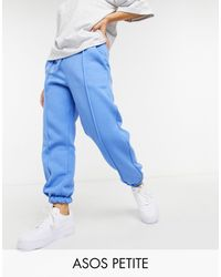 ASOS Asos Design Petite Oversized jogger With Pintuck - Blue