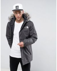 Lyst - The North Face Zaneck Detachable Faux Fur Hood Jacket In Gray ... 8b4b56594398