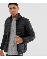 Pull&Bear Легкая Черная Стеганая Куртка - Многоцветный