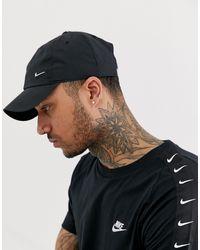 Nike Черная Кепка С Металлическим Логотипом -черный