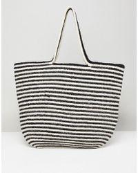 Pull&Bear - Tote Bag In Stripe - Lyst