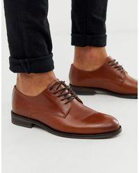 SELECTED - Derby Shoe In Tan - Lyst