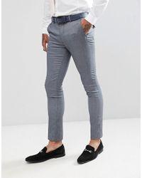 Rudie Pantalones de traje ajustados de jacquard en gris claro de
