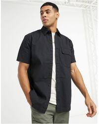 TOPMAN Ripstop Shirt - Black