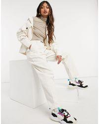 Native Youth Pantaloni comodi a coste larghe crema - Bianco