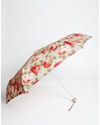 Cath Kidston - Minilite Umbrella In Aubrey Rose Print - Lyst