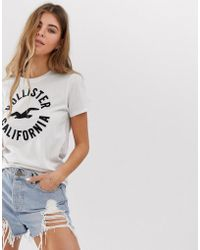 Hollister - T-shirt With Classic Logo - Lyst