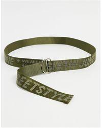 Sixth June Cintura kaki con logo - Verde