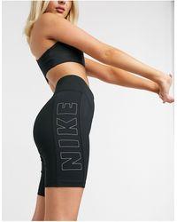Nike Черные Шорты-леггинсы -черный Цвет