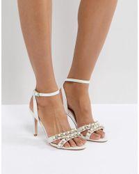 Faith - Dasha Pearl Heeled Sandals - Lyst