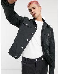 Weekday Черная Нейлоновая Куртка -черный Цвет