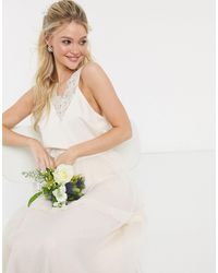 Y.A.S Wedding Cami Top With Lace - White