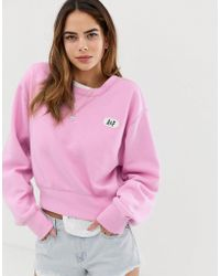Abercrombie & Fitch Sweatshirt With Puff Logo - Pink