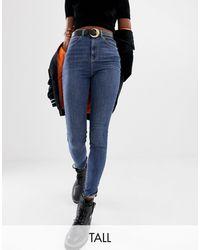 Collusion Tall - x001 - Jeans skinny blu medio slavato