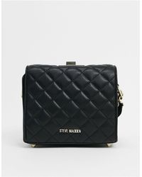 Steve Madden Celine Cross-body Bag With Quilting And Chain - Black