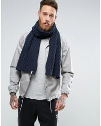 SELECTED - Jakey Scarf In Chunky Knit - Lyst