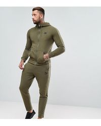 cute soft and light online shop Skinny Fit Tracksuit Set In Khaki Exclusive At Asos - Green