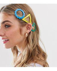 Glamorous Set Exclusieve Haarclips In Felgekleurde Hars - Meerkleurig