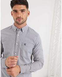 Calvin Klein - Camisa de manga larga a rayas en diseño lavado de Calvin Klein - Lyst