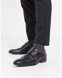 ASOS Zapatos Monk estilo Oxford en cuero negro