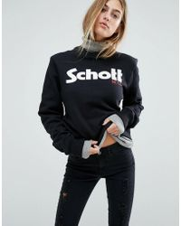 Schott Nyc - Sweat Jumper With Front Logo - Lyst