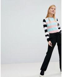 Monki - Side Stripe Flared Trouser - Lyst
