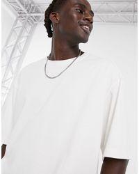 Weekday Bill - T-shirt oversize bianca - Bianco