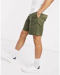 Fred Perry – Twill-Shorts - Grün