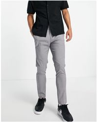 Burton Skinny Fit Recycled Smart Trousers - Grey