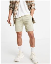 TOPMAN Chino Skinny Short - Natural