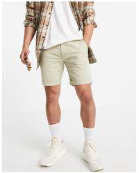 TOPMAN Shorts chinos color piedra - Neutro