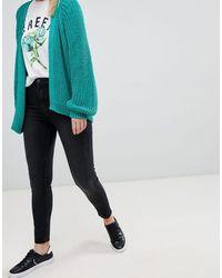 Bershka Skinny Jeans Met Hoge Taille - Zwart