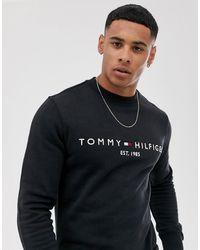 Tommy Hilfiger Sudadera con logo - Negro