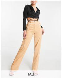 Missguided Satin Wide Leg Trouser - Orange